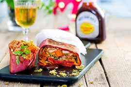 Purple Haze Hot Chicken Pastrami Burrito